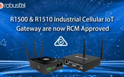 Robustel's Lite Industrial IoT Gateways the R1500 & R1510 are now RCM Approved