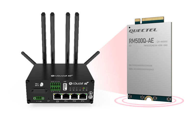 Quectel empowers Robustel's 5G industrial router with next-generation cellular connectivity for the IIoT